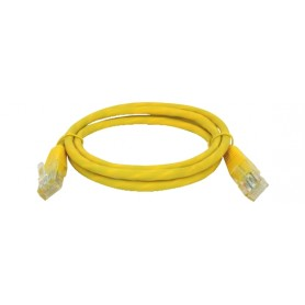 CAVO PATCH UTP CAT. 5 CON 2 SPINE RJ45 1MT GIALLO