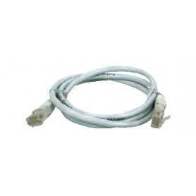 CAVO PATCH UTP CAT. 5 CON 2 SPINE RJ45 1MT GRIGIO