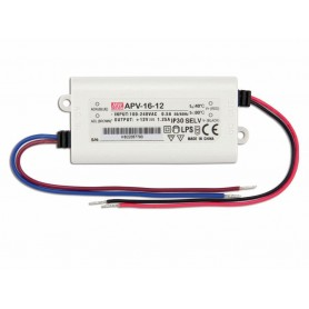 ALIMENTATORE SWITCHING 1.3A 12VDC 16W MEAN WELL NW