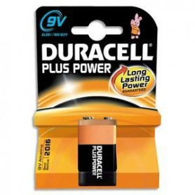 BATTERIA 9V ALKALINA DURACELL PLUS POWER