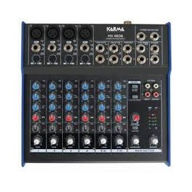 MIXER AUDIO STEREO 6 CH 6 ING. LINE 4 ING. MIC. +