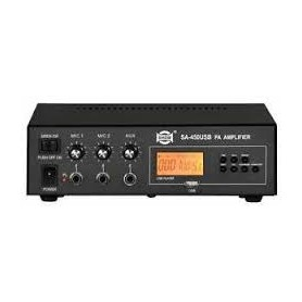 Amplificatore Pa Mono 30w Usb-mp3 2 In Mic 1 Ing L