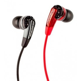 AURICOLARE STEREO C/ SPINA JACK 3,5mm BIANCO-ROSSO