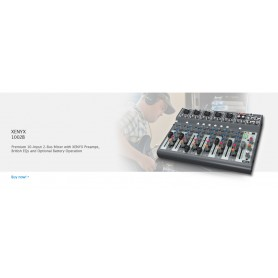 MIXER AUDIO STEREO 10 CH 6 ING. MIC.+4 ING. LINE