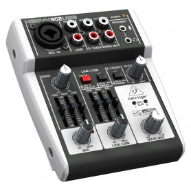 MIXER AUDIO STEREO 3 CH 1 ING. MIC. + 3 ING. LINE