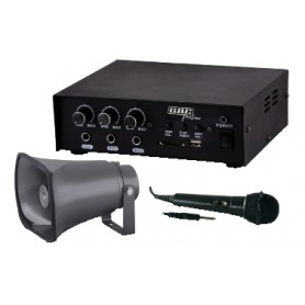 Kit Amplificatore 30w Con Mp3 / Tromba / Microfono