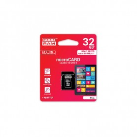 MICRO SD CARD 32 GB C10 CON ADATTATORE SD GOOD RAM