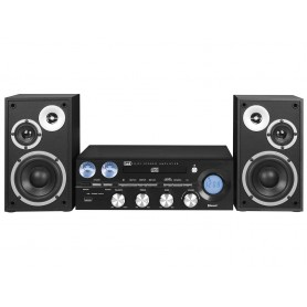 SISTEMA HI FI BLUETOOTH USB CD MP3 RADIO FM NERO