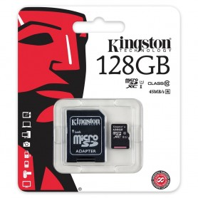 MICRO SD CARD 128 GB C10 CON ADATTATORE KINGSTON