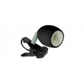 FARETTO SINGOLO LED CON PINZA - KIKILED NERO