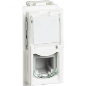 CONNETTORE RJ11 1 MODULO BIANCO LIVING NOW