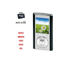LETTORE MP4 C/RADIO FM REGISTRATORE VOCALE 8 GB
